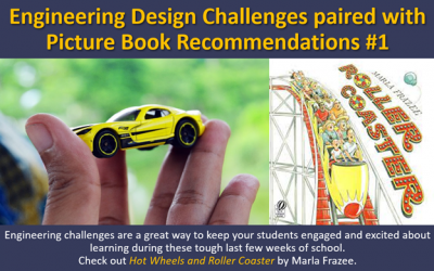 Engineering Challenge #1:  Hot Wheels and Roller Coaster by Marla Frazee
